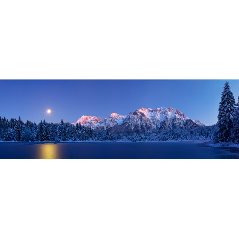 Mondaufgang - Winterabend am Luttensee