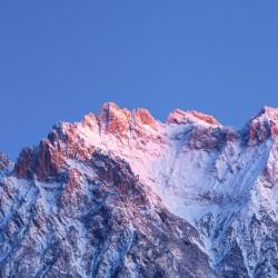 Westliche Karwendelspitze Abendrot