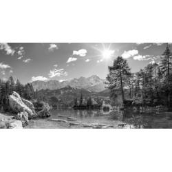 Braxenbucht - Urlaub am Eibsee schwarz weiß