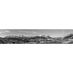 Garmisch-Partenkirchen classic Bergpanorama schwarz-weiß