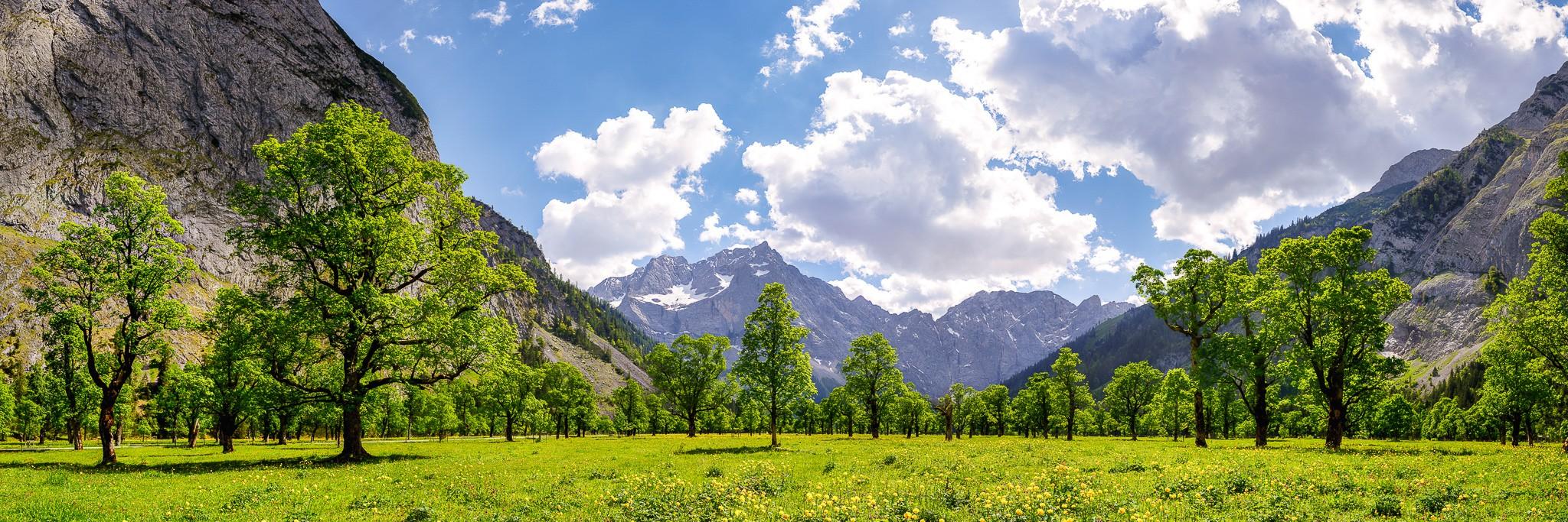 Großer Ahornboden - im Sommer - Panorama Engalm