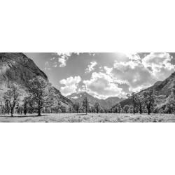 Großer Ahornboden - Engalm im Sommer schwarz weiß