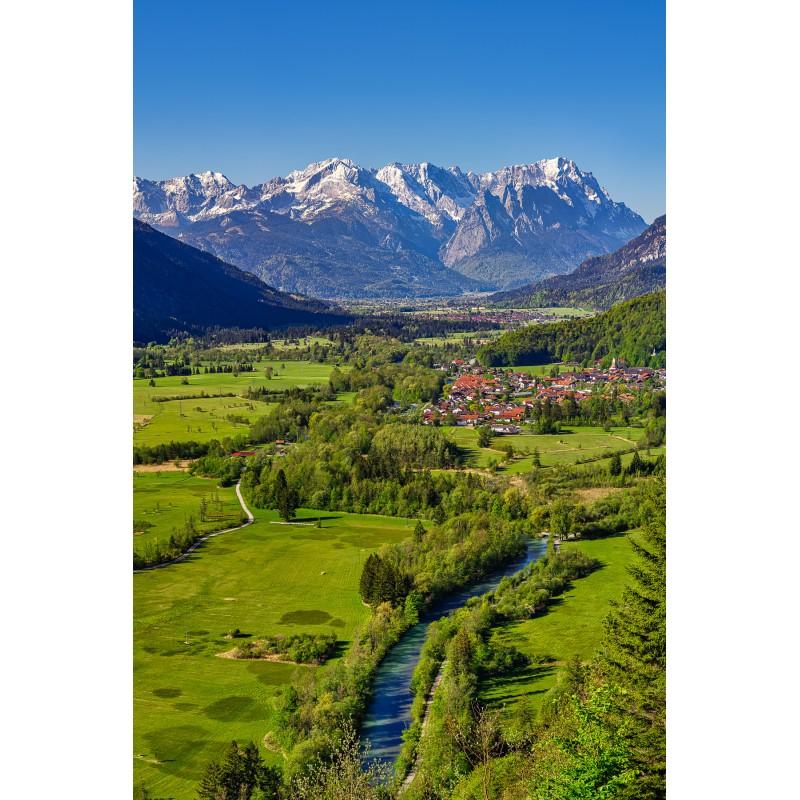 Loisachblick - Alpspitze und Zugspitze