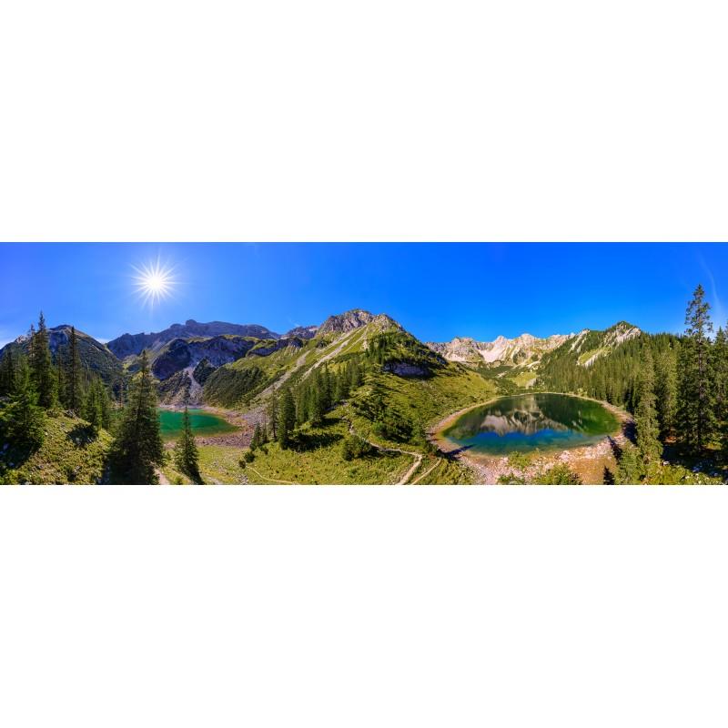 Panorama mit Soiernseen - Soiernspitze und Schöttelkarspitze
