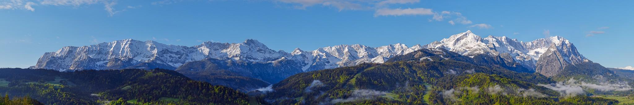 Wettersteingebirge - Zugspitze - Panorama