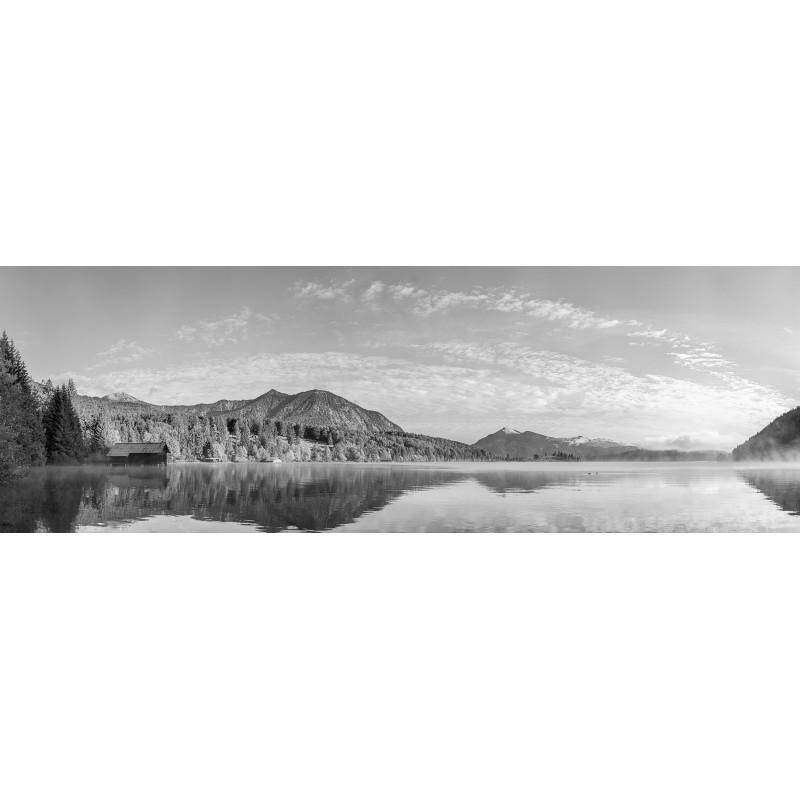 Walchensee - Herbstmorgen - schwarzweiß