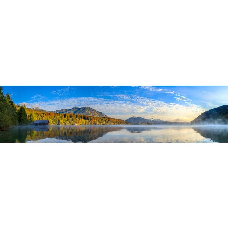 Walchensee-Herbstmorgen - Panorama mit Herzogstand