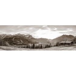 Sepia - Garmisch-Partenkirchen Bergpanorama Alpspitze Zugspitze