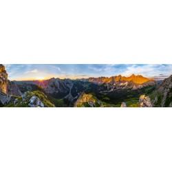 Karwendelhauptkamm Panorama Vomper Kette Sonnenaufgang