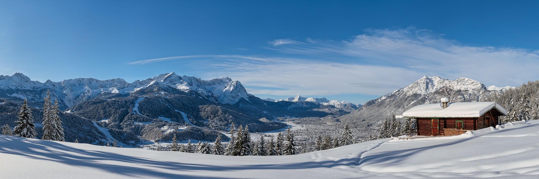 Winterlandschaft in Garmisch-Partenkirchen - Sonnenschein