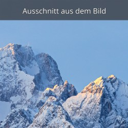 Zugspitze und Waxenstein im Winter