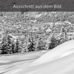 Garmisch im Winter schwarz weiß