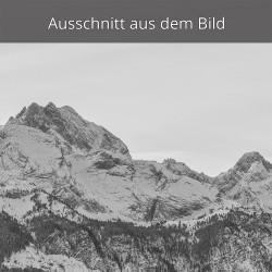 Partenkirchner Dreitorspitze im Winter mit Schachenschloss