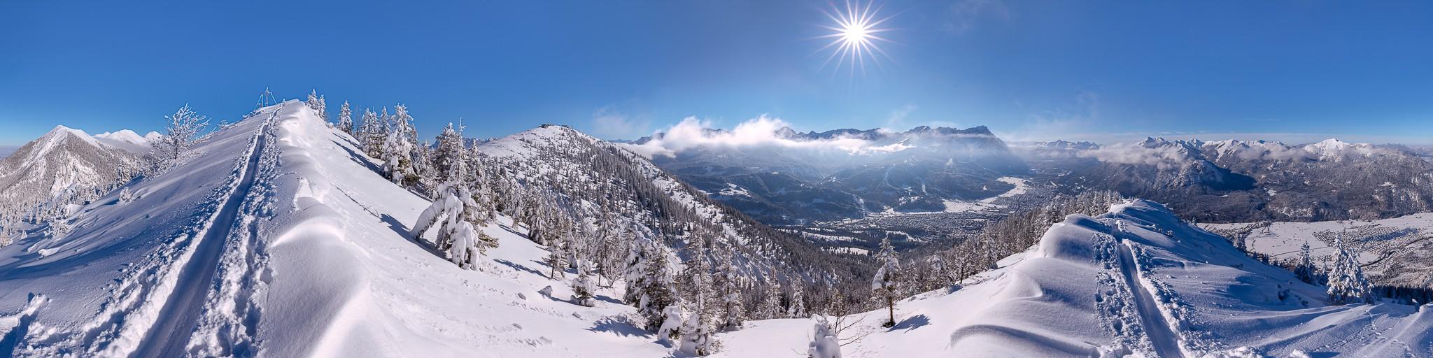 Wank - Garmisch-Partenkirchen - Winterpanorama