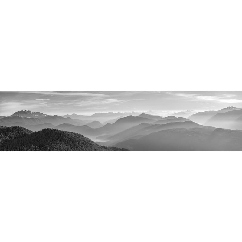Schwarz Weiße Berge - Silhouetten