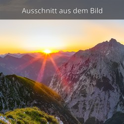 Sonnenaufgang Karwendelgebirge