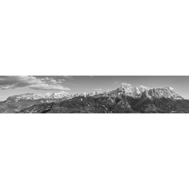 Wetterstein - Panorama - schwarz weiß