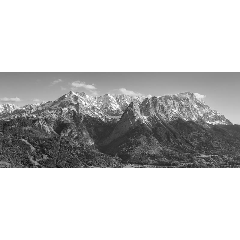 Alpspitze - Höllental - Zugspitze - schwarz weiß