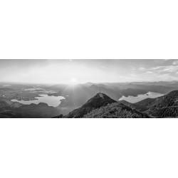 Herzogstand - Kochelsee - Walchensee - schwarz-weiß