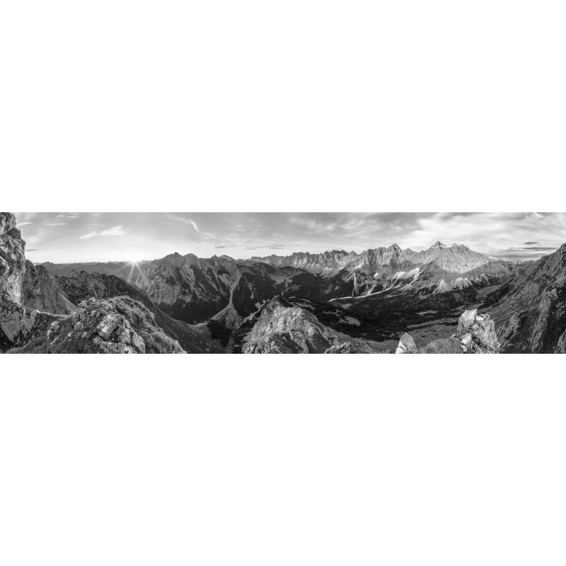 Karwendelhauptkamm 4 : 1 schwarz weiß