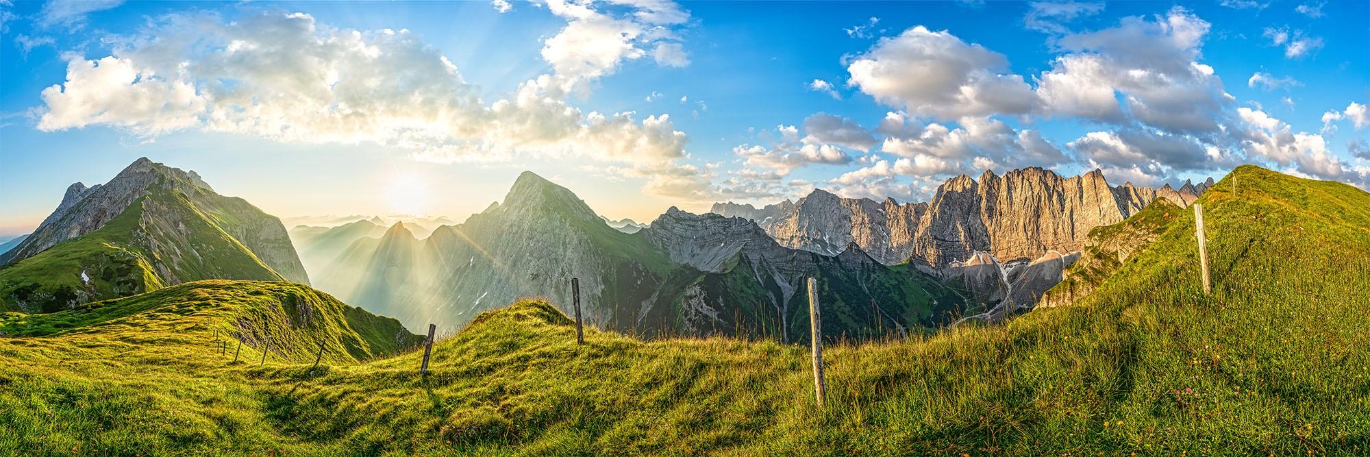 Laliderer Wand 3:1 - Sonnenaufgang in den Bergen - Karwendelgebirge