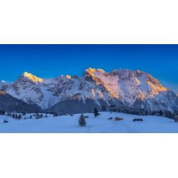 Karwendel im Winter mit Buckelwiesen