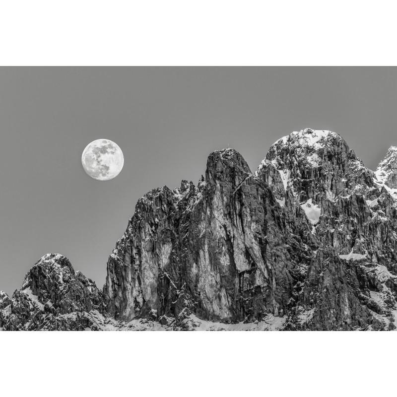 Vierer mit Mond - schwarz weiß