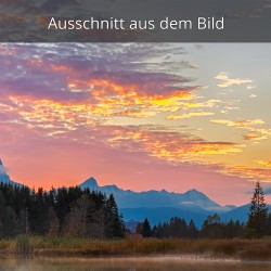 Abendrot - feuerrot am Geroldsee
