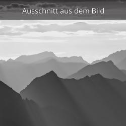 Silhouetten Bergpanorama
