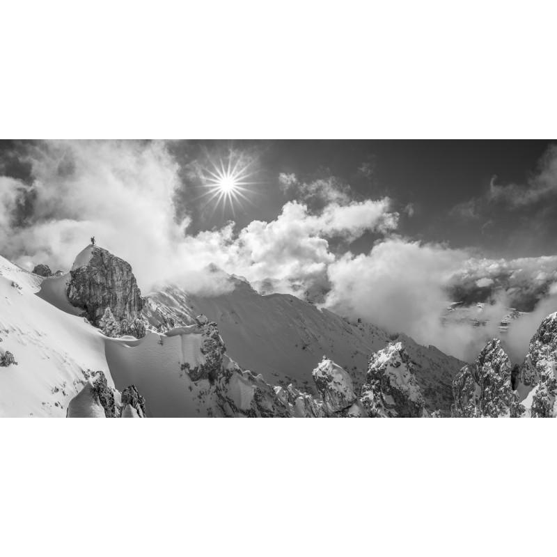 Wolkenspiel - Winterbergtour  schwarz-weiß