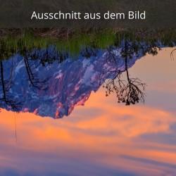 Zugspitze - Abendrot gespiegelt