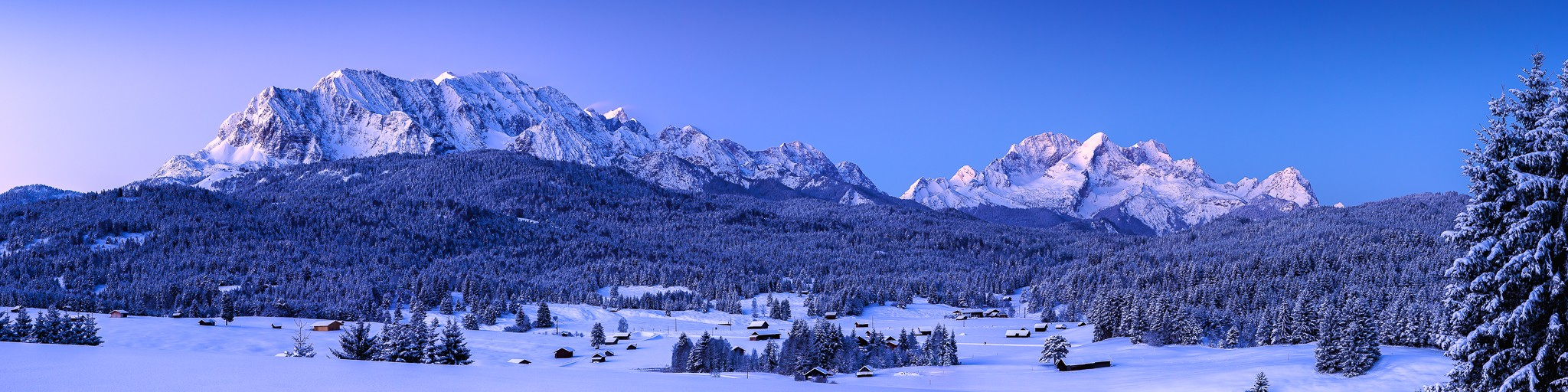 Wettersteingebirge im Winter