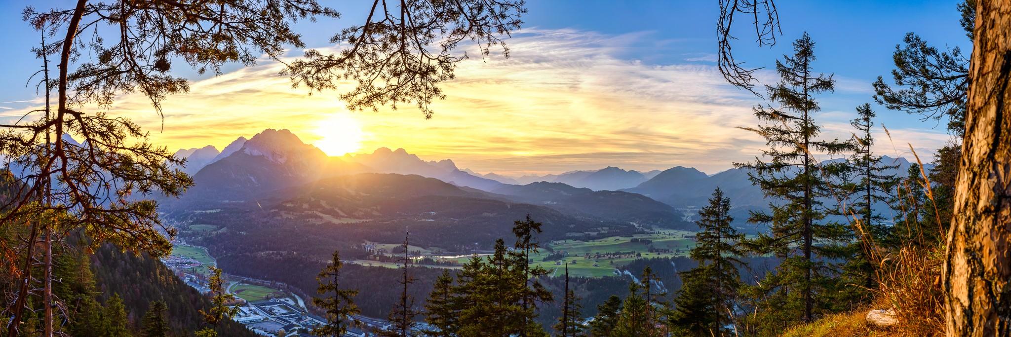 Mittenwald und Wettersteingebirge