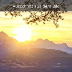 Sonnenuntergang am Wetterstiengebirge