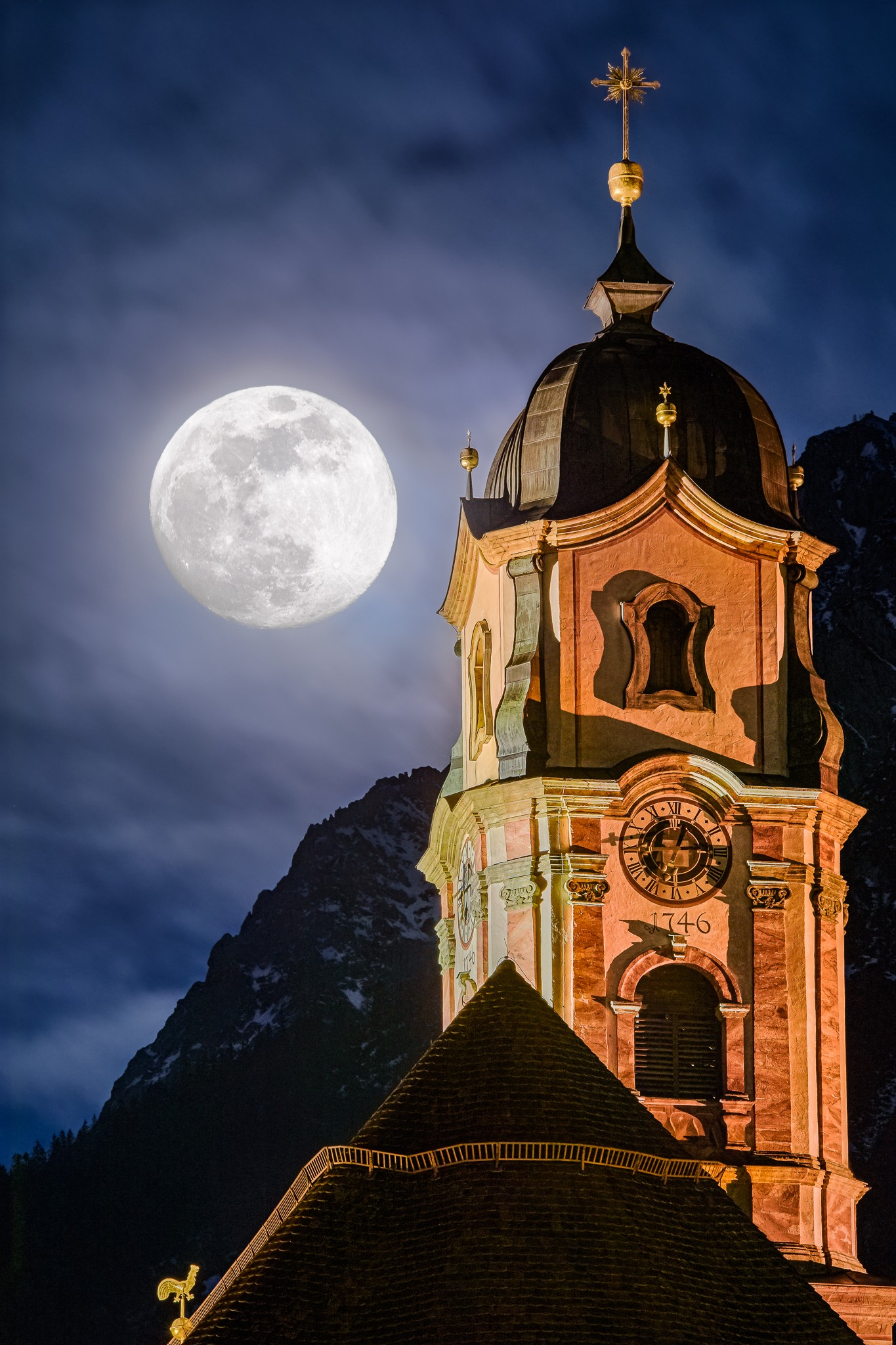 St. Martin in Mittenwald - Vollmond