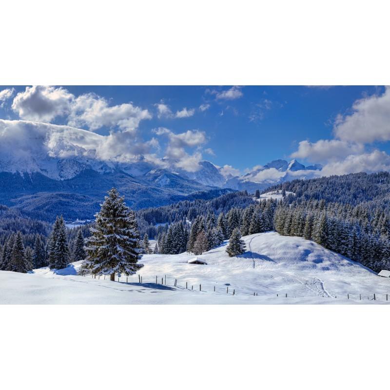 Winterlandschaft - Elmau und Alpspitze