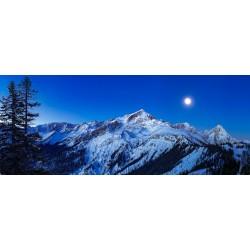 Mondlicht - Alpspitze und Zugspitze - Pano