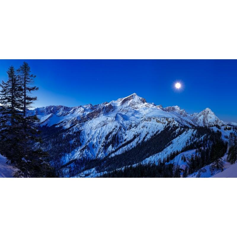 Alpspitze bei Vollmond