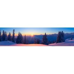 Sonnenaufgang Winterlandschaft - Pulverschnee