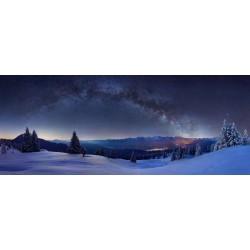Sternenhimmel - Winterlandschaft in den Bergen