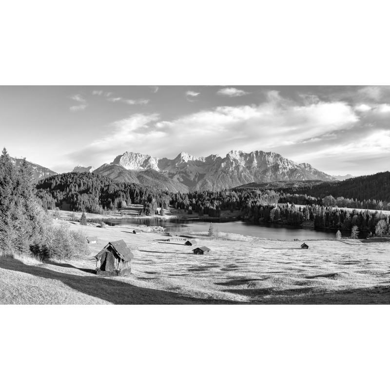 Herbst am Geroldsee  -  schwarz weiß