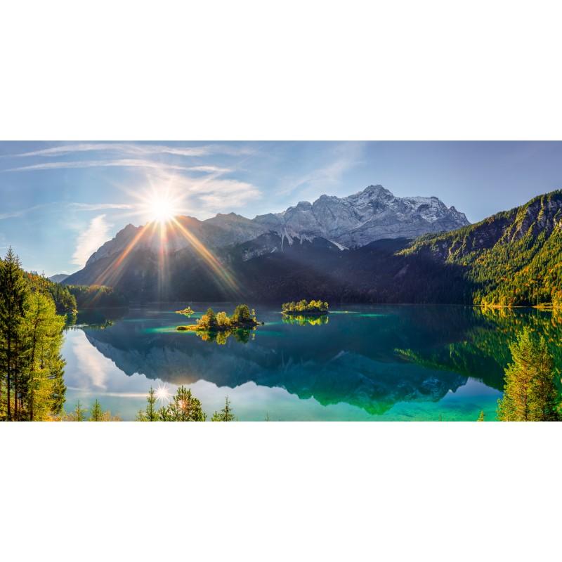 Eibsee mit Inseln - Zugspitze