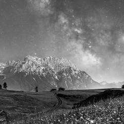 Westliche Karwendelspitze Milchstraße