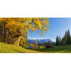 Barmsee - Herbst auf der Liegewiese mit Karwendel